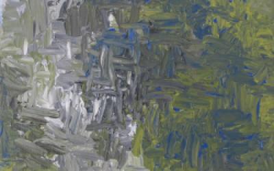 Blå grøn billede 20 x 20 nr 1