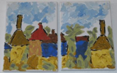 Bornholm Gudhjem 2 stk 18 x 24 (3)
