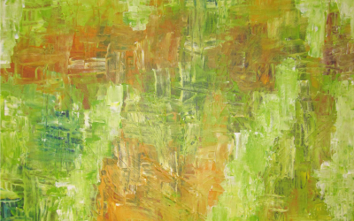 Det orange grønne univers 60x80 cm