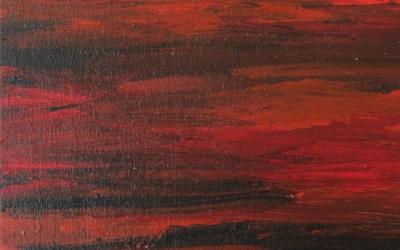 Det røde hav 30 x 30 cm nr 2