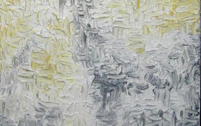 Grå gul abstrakt 60x80 cm