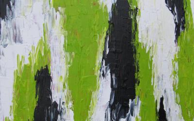 Grøn absrakt 20 x 30 cm
