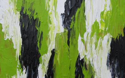 Grøn abstrakt 20x20 cm