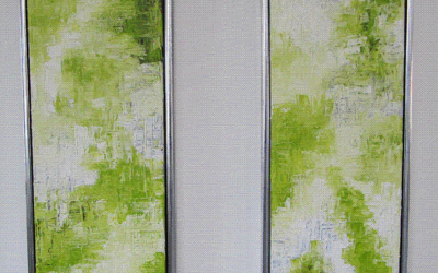 Lime grøn abstrakt 30x90