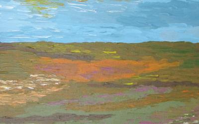 Efterår på heden 30 x 30 cm