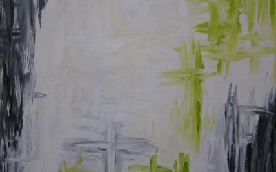 Mint grøn abstrakt 50 x 50 cm
