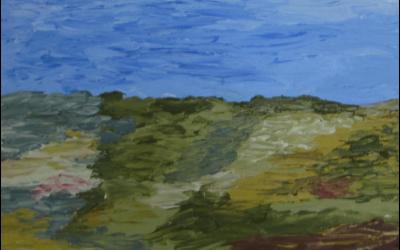 Novemberblæst. 30x30 cm