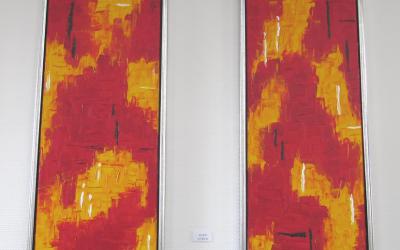 Rød abstrakt 1 30 x 90 cm