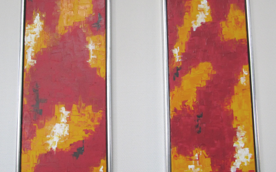 Rød abstrakt 2 - 30 x 90 cm