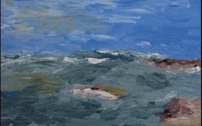 Ved havet 4. 30x30 cm